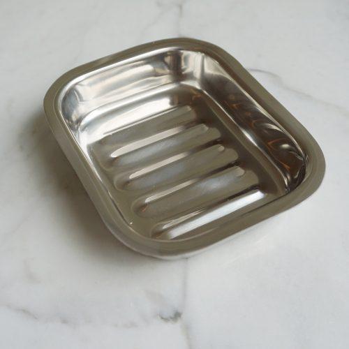 Zeephouder RVS Rechthoekig zeepbakje