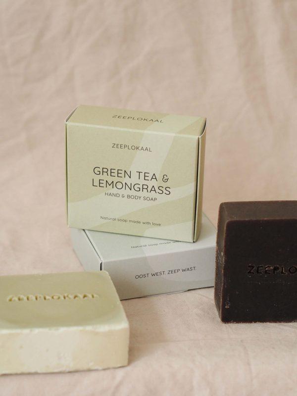 Handgemaakte zeep Zeeplokaal Groene thee en citroengras