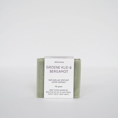 groene klei bergamot natuurlijke zeep plantaardig