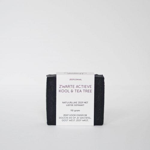 zwarte actieve kool tea tree natuurlijke zeep