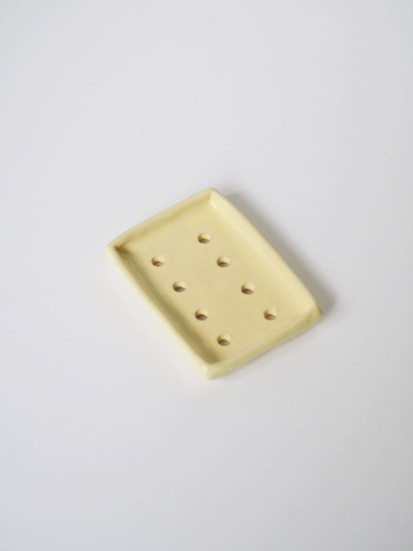 zeepschaaltje keramiek geel